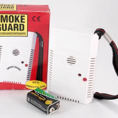 Avertizor (detector) acustic si optic de incendiu portabil, de inalta sensibilitate - Senzor de fum