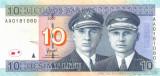 LITUANIA █ bancnota █ 10 Litu █ 2007 █ P-68 █ UNC █ necirculata
