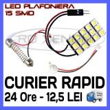 BEC AUTO LED LEDURI PLACUTA PLAFONIERA - 15 SMD - SOFIT FESTOON C5W C10W T10 W5W, Universal, ZDM