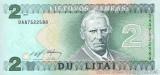 LITUANIA █ bancnota █ 2 Litai █ 1993 █ P-54a █ UNC █ necirculata