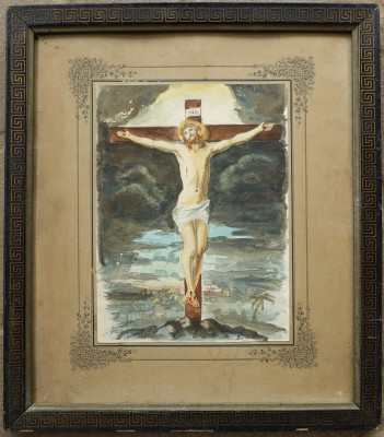 Isus pe cruce - semnat  Sorin Vasilas foto