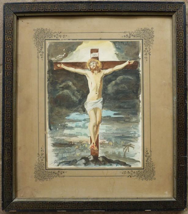 Isus pe cruce - semnat  Sorin Vasilas