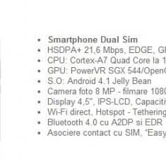 Vand Allview P5 Quad + card 16 GB+ husa - Telefon Allview, Negru, Neblocat