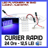 BEC AUTO LED LEDURI PLACUTA PLAFONIERA - 18 SMD - SOFIT FESTOON C5W C10W T10 W5W, Universal, ZDM