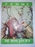 Revista FEMME DE NOS JOURS -  Nr. 6 1960 ( scurt articol despre SPUTNIK )