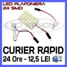 BEC AUTO LED LEDURI PLACUTA PLAFONIERA - 24 SMD - SOFIT FESTOON C5W C10W T10 W5W - Led auto ZDM, Universal