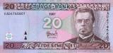 LITUANIA █ bancnota █ 20 Litu █ 1997 █ P-60 █ UNC █ necirculata