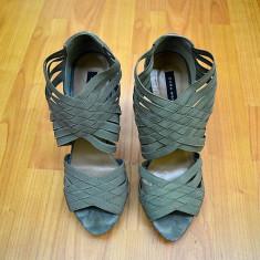 Sandale dama ZARA WOMAN 38 Originale TRANSPORT GRATUIT, Culoare: Gri, Gri