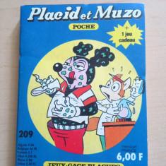 Placid et Muzo poche no. 209 ( editie de buzunar; limba franceza; peste 150 de pagini; benzi desenate si jocuri ) - Reviste benzi desenate Altele