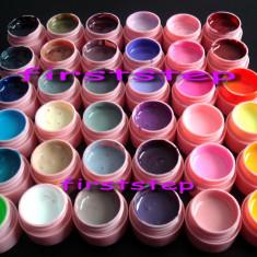 Geluri colorate uv set gel uv 36 culori bucati CANNI chit kit unghii false tehnice poza reala - Gel unghii