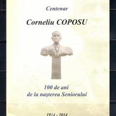 ROMANIA 2014 - CENTENAR CORNELIU COPOSU - PLIANT