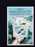 Germania 1991 - PISTA DE BOB DE LA ALTENBERG, colita nestampilata, N5, Sport, Nestampilat