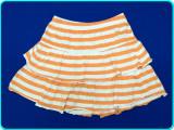 DE FIRMA→ Fusta FRUMOASA, de vara, bumbac, REDOUTE → fete   7—8 ani   122—128 cm, Alta, Orange
