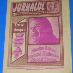 REVISTA jurnal JURNALUL SF science fiction nr 60 special totul despre vampiri