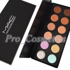 Trusa Concealer, Corector si Anticearcan MAC 12 culori iluminator camuflaj