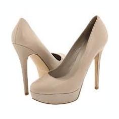 Pantofi platforma Aldo, toc 13, marimea 39, culoare bej-gri - Pantof dama