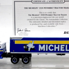 MATCHBOX-DINKY- COLLECTIBLES -SCARA 1/87- PETERBILT CONTAINER,, MICHELIN'' - ++2501 LICITATII !! - Macheta auto Siku