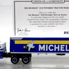 MATCHBOX-DINKY- COLLECTIBLES -SCARA 1/87- PETERBILT CONTAINER,, MICHELIN'' - ++2501 LICITATII !! - Macheta auto Siku