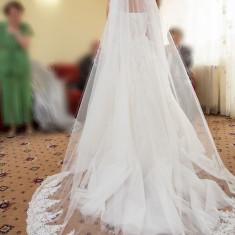 Rochie mireasa + voal Natalia Vasiliev - Rochie de mireasa printesa