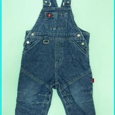Salopeta blugi subtire, bretele reglabile, capse, H&M→ baieti| 9—12 luni | 80 cm