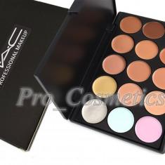 Trusa Concealer si Corectori Profesionali MAC 15 culori anticearcan camuflaj - Trusa make up