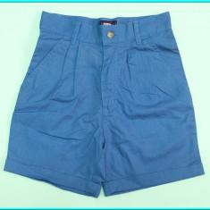 NOI _ Pantaloni scurti, din in, marca B.Y.O. BOY _ baieti | 3 - 4 ani | 104 cm, Marime: Alta, Culoare: Albastru