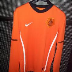 Tricou polyester maneca lunga Nike KNVB - Bluza barbati Nike, Marime: M, Culoare: Orange