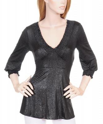 Bluza Neagra cu Cordon foto