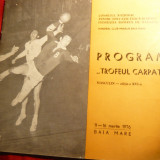 Program -Trofeul Carpati 1976 - Minaur Baia Mare - Handbal