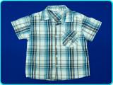 FRUMOASA → Camasa cu maneca scurta, bumbac, OKAY → baieti | 5—6 ani | 116 cm, Alta, Turcoaz
