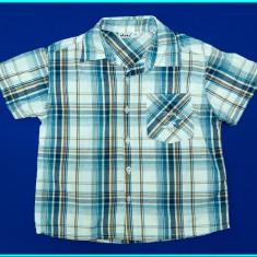 FRUMOASA _ Camasa cu maneca scurta, bumbac, OKAY _ baieti | 5 - 6 ani | 116 cm, Marime: Alta, Culoare: Turcoaz