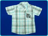 FRUMOASA → Camasa cu maneca scurta, bumbac, OKAY → baieti | 5—6 ani | 116 cm, Alta, Bleu