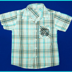 FRUMOASA → Camasa cu maneca scurta, bumbac, OKAY → baieti | 5—6 ani | 116 cm, Marime: Alta, Culoare: Bleu