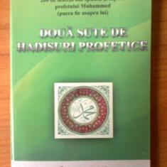 W3 Doua sute de hadisuri profetice (cartea are lipite din fabrica foile invers) - Carti Islamism