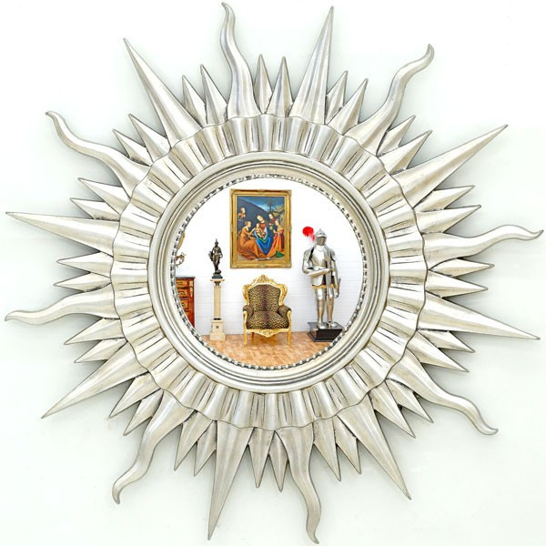 oglinda din cristal ca un soare arta din sticla okazii. Black Bedroom Furniture Sets. Home Design Ideas