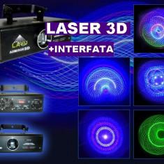 PROMOTIE! MEGA LASER FULL COLOR 3D DE PUTERE MARE 700 mW+INTERFATA CONECTARE PC INCLUSA BONUS! POTI SCRIE SI DESENA CU LASER 3D!