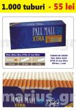 1.000 tuburi de tigari Pall Mall Blue XTra filtru de 25 mm pentru injectat tutun