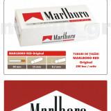 1.000 tuburi de tigari Marlboro rosu Original pentru injectat tutun - Foite tigari