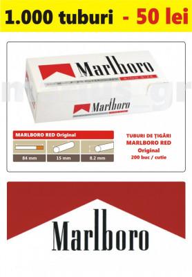 1.000 tuburi de tigari Marlboro rosu Original pentru injectat tutun foto