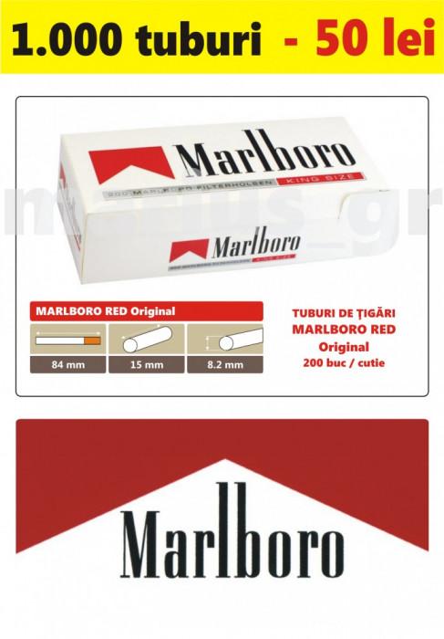 1.000 tuburi de tigari Marlboro rosu Original pentru injectat tutun