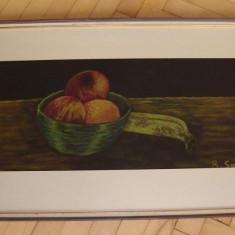 Pastel pe hartie semnat B. Soini datata 1964 - Pictor strain, Natura moarta, Realism