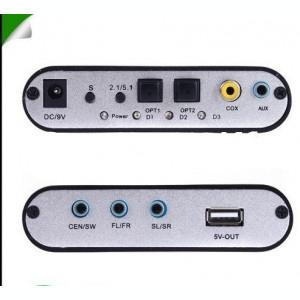 Convertor audio optic, toslink, digital la analog, Gear DTS/AC-3/6CH Decoder 5.1