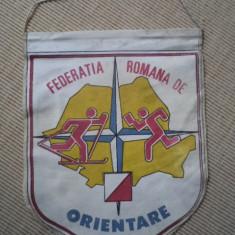 federatia romana de orientare RSR fanion de colectie hobby rar comunist anii 80