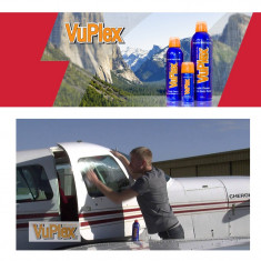 Spray VuPlex profesional pentru curatarea si protejarea plasticelor: farurile autoturismelor, ecranele telefoanelor, monitoarele PC-urilor, etc