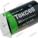 Baterie 1/2AA, litiu, 3, 6V, Tekcell, cu terminale-050222