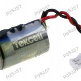 Baterie 1/2AA, litiu, 3, 6V, Tekcell, cu fire-050223