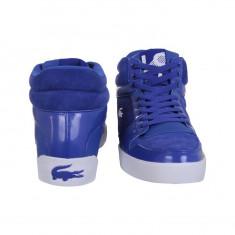 Adidasi Originali Inalti LACOSTE - adidasi piele naturala - in cutie - 40.5(26.5cm) - Adidasi barbati Lacoste, Culoare: Albastru