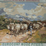 Goblen - Carul cu 4 boi (N. Grigorescu) - Tapiterie Goblen