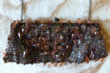 Geanta / poseta eleganta cu ornamente; 24 x 10 cm; impecabila
