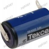 Baterie 1/2AA, litiu, 3, 6V, Tekcell, cu terminale-050220